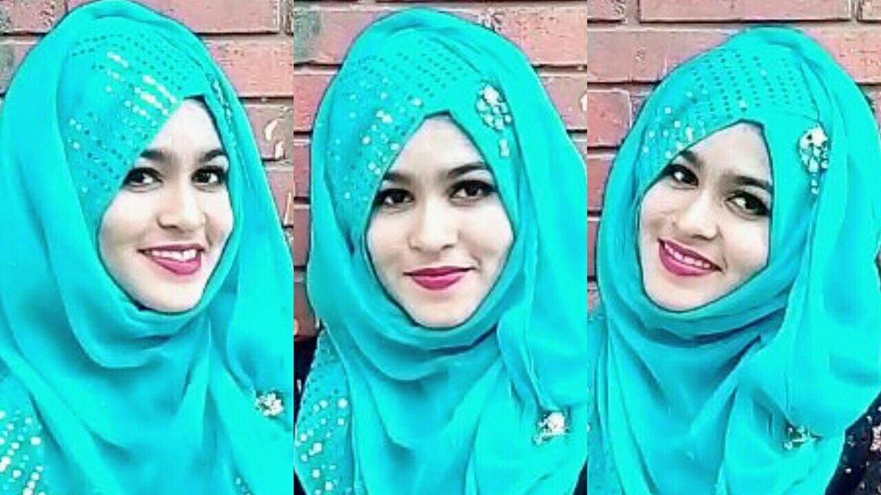 হিজাব স্টাইল , Easy Hijab Style showing the One Side Design