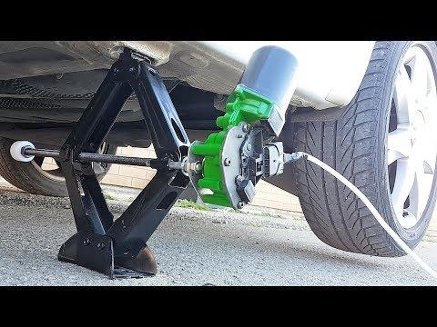 Cómo hacer un gato eléctrico para cambiar la rueda del automóvil /carro.