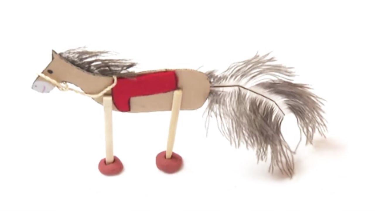 fabriquer un cheval en carton youtube. Black Bedroom Furniture Sets. Home Design Ideas