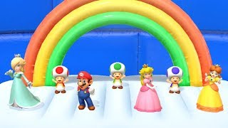 Super Mario Party Fun Minigame - Mario vs Rosalina vs Peach vs Daisy (4 Players)