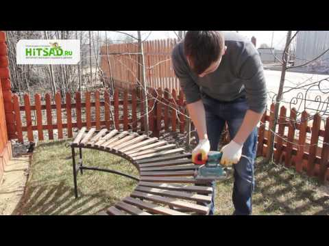 Как покрасить скамейку | Hitsad.ru