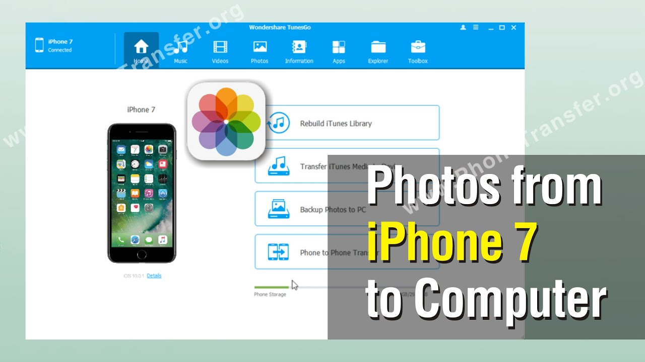 how to get photos from pc to iphone