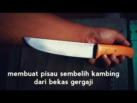 Membuat pisau sembelih kambing