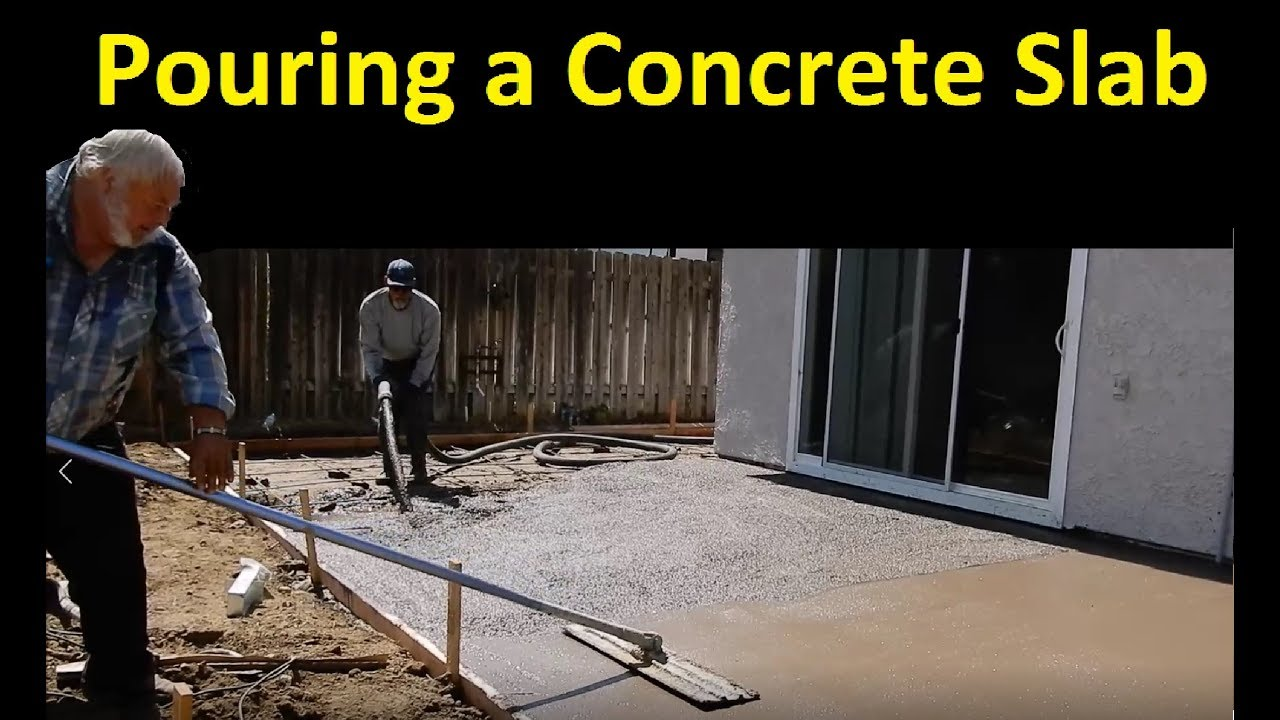 Pouring A Concrete Patio Awning Finishing Grout Pump