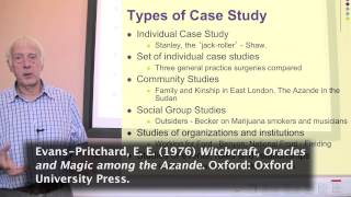 Types of Case Study. Part 1 of 3 on Case Studies