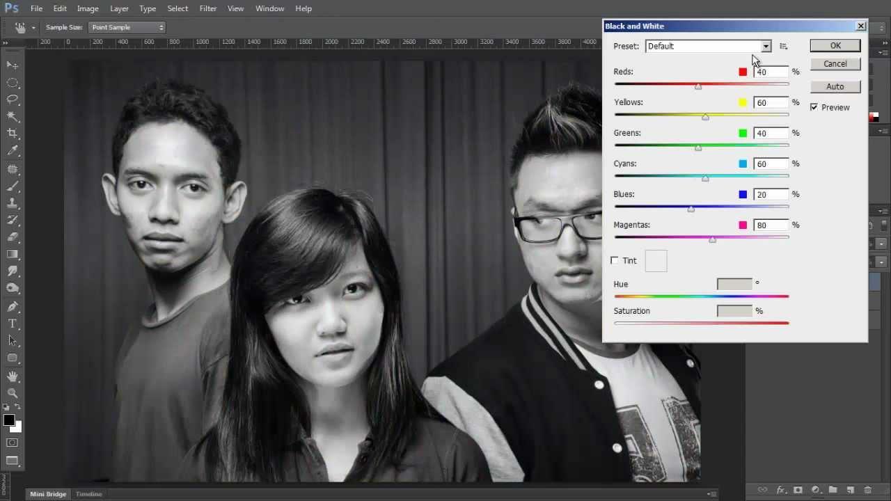 Merubah Foto Berwarna Menjadi Hitam Putih Dengan Adobe Photoshop