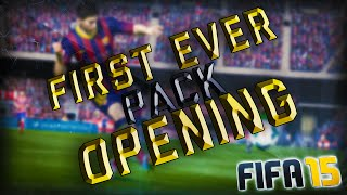 MY FIRST EVER PACK OPENING! - Fifa 15 Ultimate Team Thumbnail