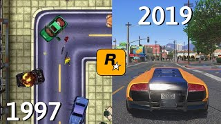 Evolução do Grand Theft Auto (1997-2019)