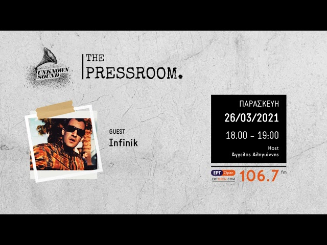 Unknown Sound | The Pressroom | Ep.25 | Guest : Infinik | 26/03/21