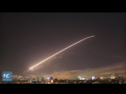 Syria: U.S.-led 'precision' strikes target Damascus