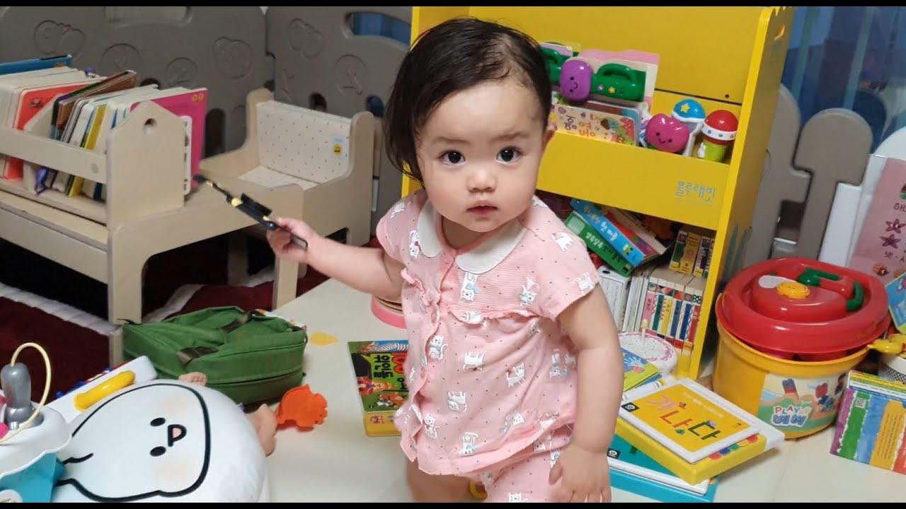 [SUB] 💚씻고 나온 딸이 너무 예뻐, 딸바보가 되었습니다💚 - 15개월 아기 루다