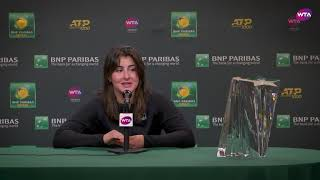 Bianca Andreescu | 2019 BNP Paribas Open Final | Press Conference Video