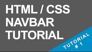 Tutorial 1 - Navigation Bar - HTML / CSS