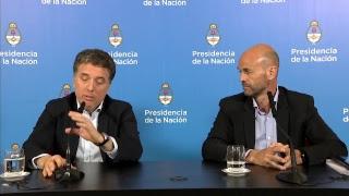 Declaraciones a la prensa de los ministros Nicolás Dujovne y Guillermo Dietrich