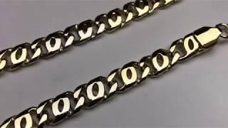 Как изготовить золотую цепь «СКРЕПКА».How to make a gold chain.