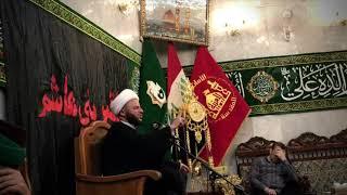 مجلس سماحة الشيخ الحسناوي يوم امس في العتبة العباسية المقدسة بمناسبة هدم مراقد أئمة البقيع(ع)
