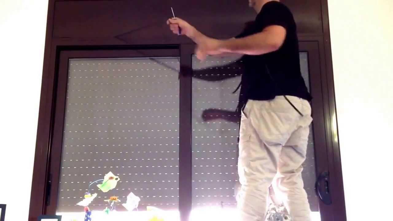 Reparación persiana: sacar registro (chapa de aluminio) - YouTube
