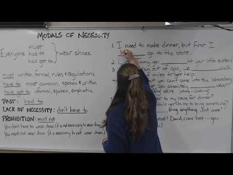 Modals of Necessity