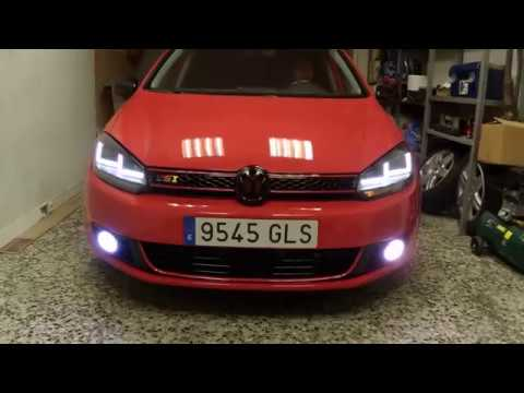 osram ledriving xenarc golf vi black from spain youtube. Black Bedroom Furniture Sets. Home Design Ideas