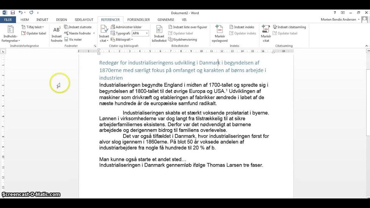 redegørelse og diskussion eksempel