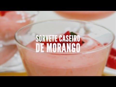 Sorvete caseiro de morango | Receitas Saudáveis - Lucilia Diniz