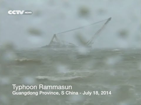 Super Typhoon Rammasun sweeps through south China city