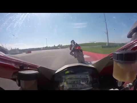 Ducati DRE Master - Misano 2016 - Onboard - near crash - Panigale 1299S