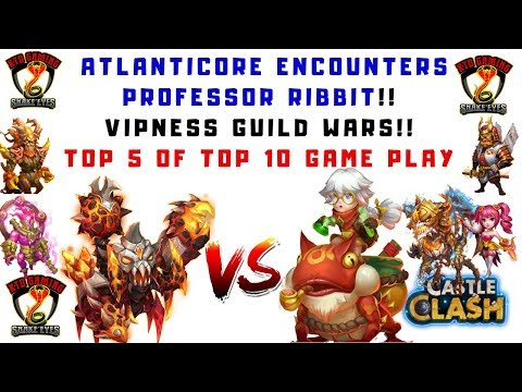 PROFESSOR RIBBIT | VS | ATLANTICORE | GUILD WARS | GAME PLAY | CASTLE CLASH