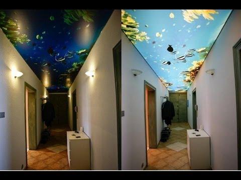Decoración de pasillos modernos con techos tensados - YouTube