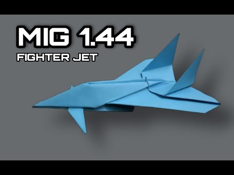 How To Make Paper Airplane - Best Paper plane Origami Jet Fighter  | MIG 1.44