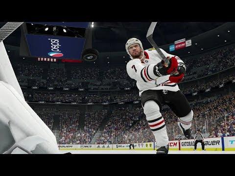 NHL 19 Gameplay Chicago Blackhawks vs Colorado Avalanche (NHL 19 Xbox One EA Access)