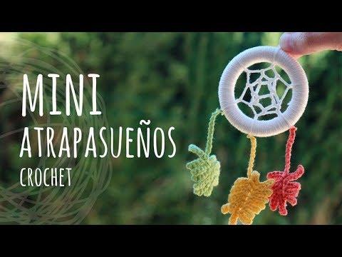 Llaveros Para Bautismo.Tutorial Mini Atrapasuenos Ganchillo Crochet Super Facil
