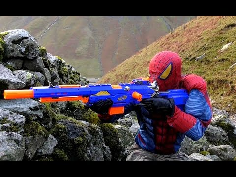 Thumbnail: SNIPER SPIDERMAN (BB, Air, Pellet, Nerf Gun Serie) Nerf Longstrike Rifle. SPIDERMAN vs SOLDIERS