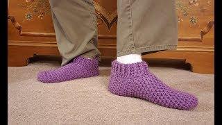 Easy Custom Sized Slippers Crochet Tutorial!