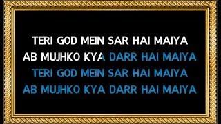 Teri God Me Sar Hai Maiya - Karaoke (With Chorus) - Arijit Singh