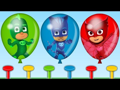 Thumbnail: Learn Colors with PJ Masks Balloons