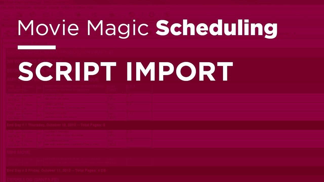 Movie Magic Budgeting Templates. movie magic scheduling script ...