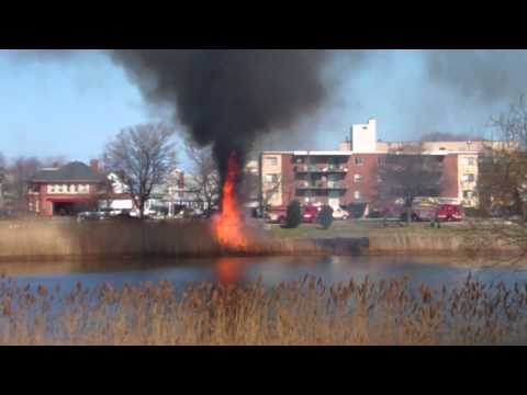 Lake Lewis Winthrop, MA fire