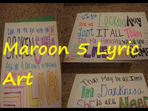 Maroon 5 Lyric Art DIY