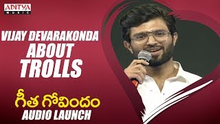 Vijay Devarakonda About What The F Song Trolls @ Geetha Govindam Audio Launch