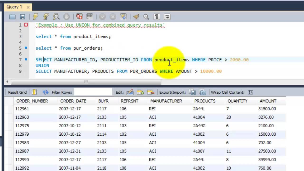 Sql complete tutorial use union for combined query results sql complete tutorial use union for combined query results chapter 25 gamestrikefo Gallery