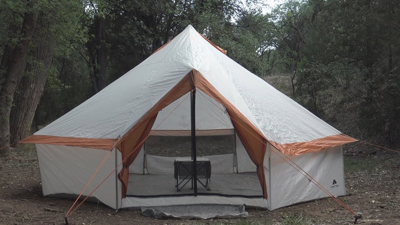 Camping (Fail) with a Walmart Yurt (Read the Description ...