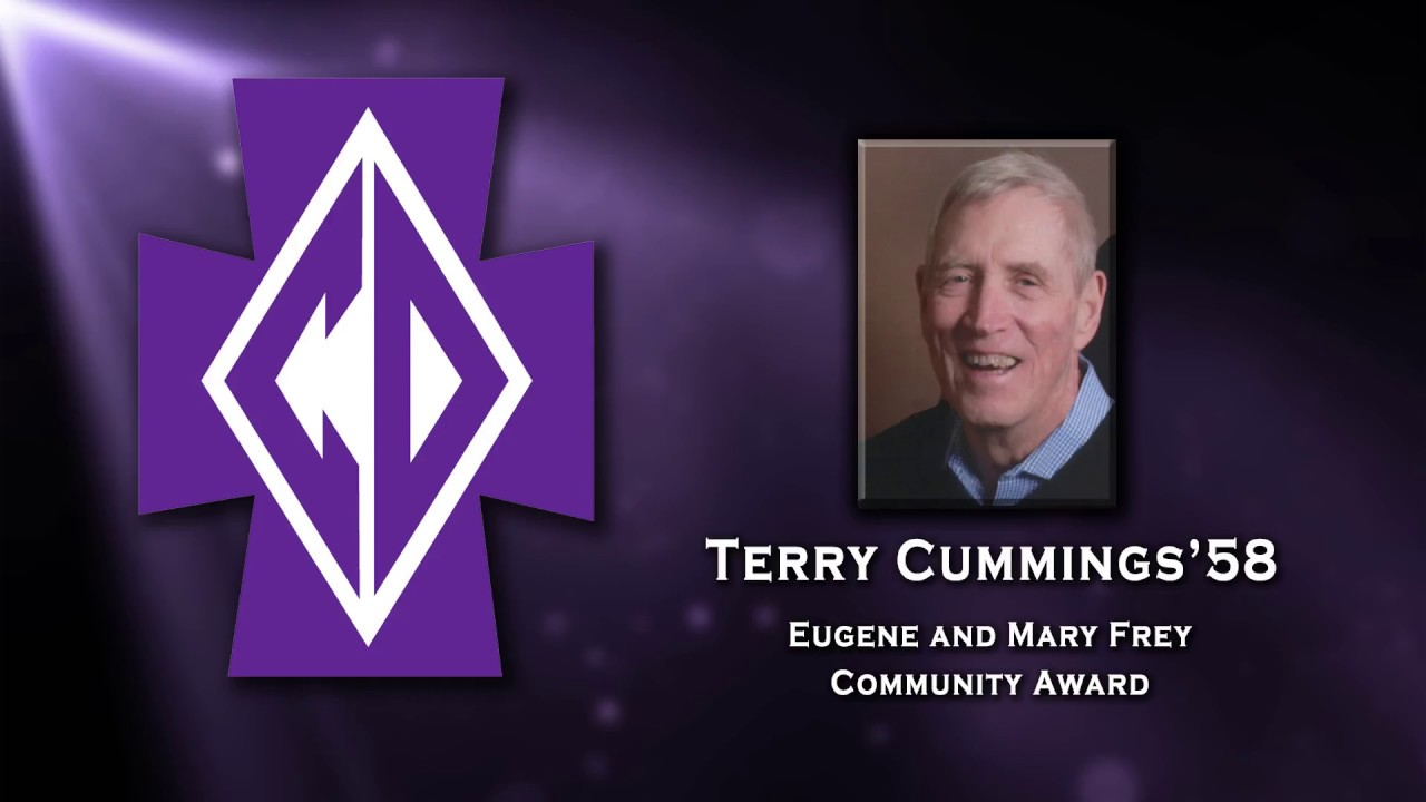 Terry Cummings 58 2017 Eugene and Mary Frey munity Award Winner