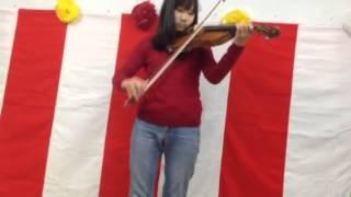 妹の家庭保育所の卒園式で演奏.