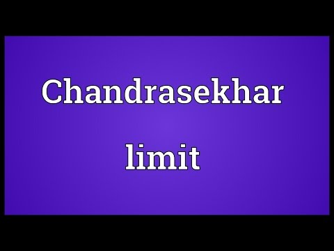 Chandrasekhar limit Meaning