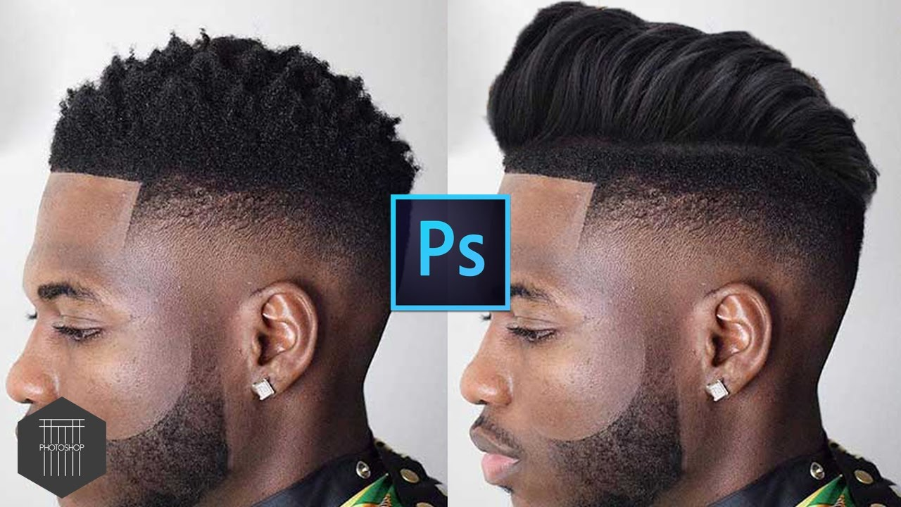 Change Hairstyle for Beginner , Tutorial Photoshop CC 2017