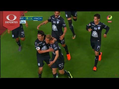Gol de Erick Gutiérrez    Necaxa 0 - 1 Pachuca    Clausura 2018 - Jornada 12   Televisa Deportes