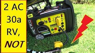 2 RV A/C Units on 30 amp Generator 👌