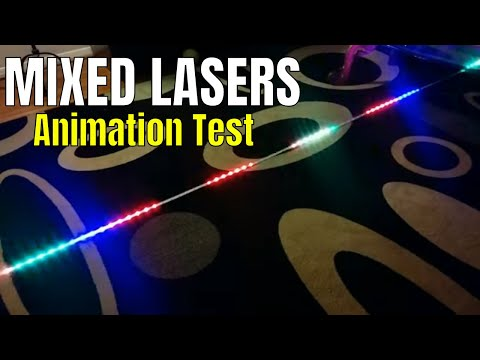 ViVi - Music LED Controller - Mixed Lasers Test - YouTube