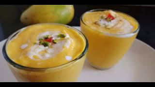 Mango Smoothie with yogurt l Mango Lassi l How to make Mango Smoothie